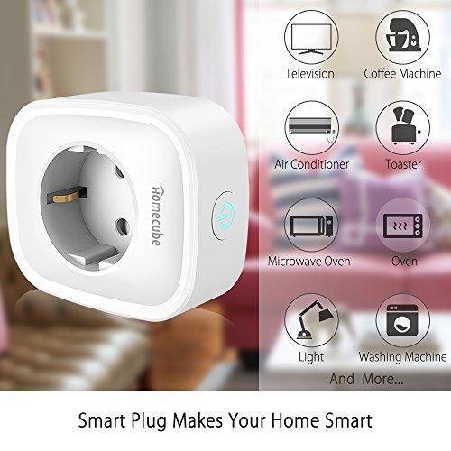 smart steckdose homecube intelligente wlan steckdose mit. Black Bedroom Furniture Sets. Home Design Ideas