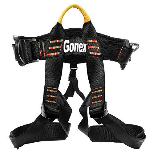 Gonex Klettergurt, baumpflege Schutz Gürtel zum Bergsteigen Klettern für Frauen und Männer