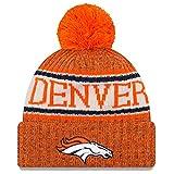 New Era American Football NFL Teamsport Winter Strickmütze Unisex Beanie Mütze, DENVER BRONCOS 7834, OSFM