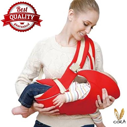 Cora Adjustable 4-In-1 Baby Carrier With Comfortable Head Support & Buckle Straps - Multi Color