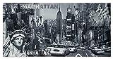 Wandbild Keilrahmen Bild New York Freiheitsstatue Manhatten Streetlife 50x100 cm