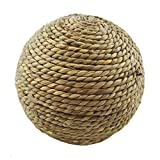 Toys - 6 10cm Pet Chew Toy Natural Grass Ball With Bell Guinea Pig Tooth Cleaning -...