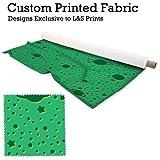 Cartoon Mond & Sterne grün Design Digital Print Mikrofaser