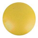 Balancekissen mit Noppenseite, Sitzkissen, aufpumpbar, Cando® Balance Disc, 60 cm Durchmesser, gelb