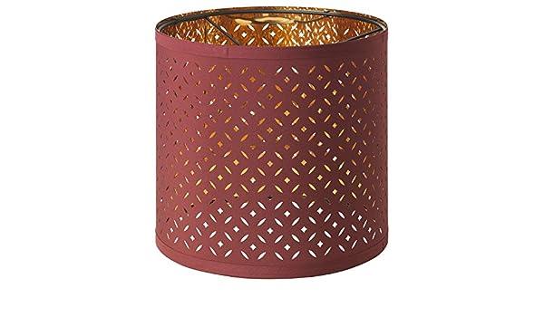 IKEA NYMÖ Paralume, rosso scuro, color ottone, 24 cm: Amazon