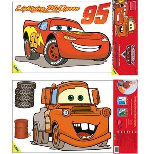 Unbekannt FunToSee Wandsticker Disney Pixar Cars, 8 Stück - Boy Disney Wandtattoos