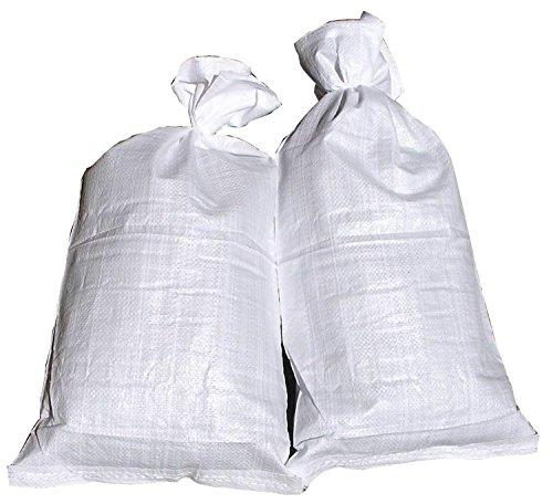 50 Hochwasser Sandsäcke PP Sandsack Hochwassersack weiß + 1 Glasbeutel