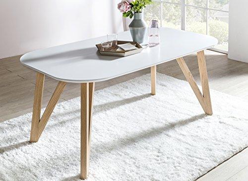 SalesFever® Esszimmertisch Aino, Küchentisch In Matt Weiß, 160 X 90 Cm,