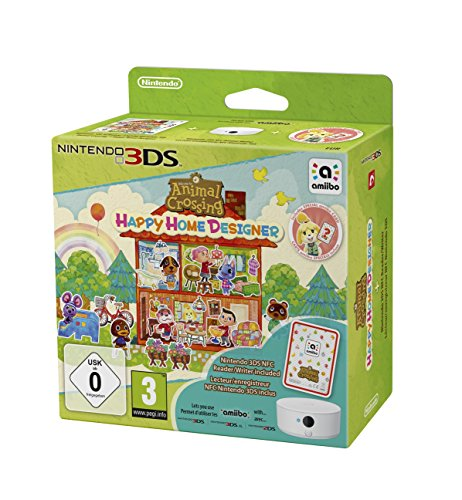 Animal Crossing: Happy Home Designer inkl. 3DS-NFC-Lese-/Schreibgerät - [3DS] (Animal Crossing 3ds)