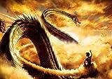Messaggio Shenron Dragon Ball Goku Drangon Nuvola magica Anime Manga Wall Art