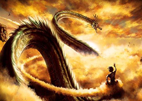 Messaggio Shenron Dragon Ball Goku Drangon Nuvola magica Anime Manga Wall...