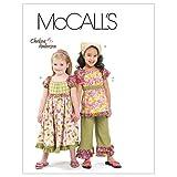 Mc Call's Pour enfants/filles Top, robe, pantalons Capri et motif bandana - 6-7 - 8