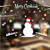Hwhz Christmas Wall Stickers Snow Shop Shop Glass Door Shopping Mall Window Decoration Stickers Creative Snowman