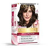 Loreal Paris Excellence Creme Hair Color, Natural Dark Brown 04, 72ml + 100gm