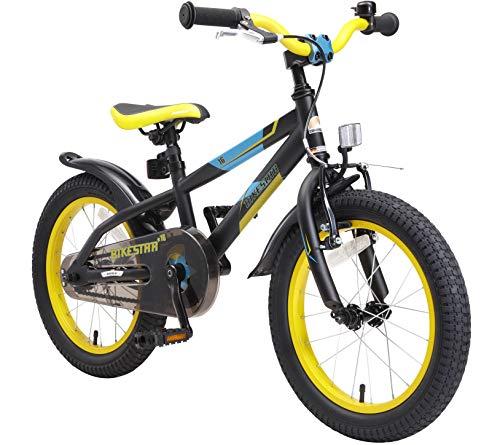 0fe3f27d4af5fc BIKESTAR Bicicletta Bambini 4-5 Anni da 16 Pollici ☆ Bici per Bambino et  Bambina Mountainbike con Freno a retropedale et Freno a Mano ☆ Nero & Verde