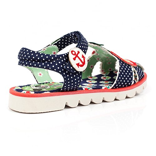 Irregular Choice Cherry, Sandales  Bout ouvert fille Bleu