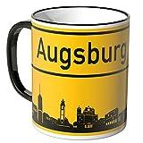 Wandkings® Tasse, Skyline Augsburg - SCHWARZ