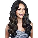 Meylee Perruques Corps élégant Wave perruque synthétique perruque brune cheveux longs femme avec perruque libre Cap et peigne