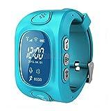 ELECTROPRIMEÃ'® Kids Blue Wrist Band Anti-Lost Smart Watch SOS Call GPS/GPRS/WiFi Tracker