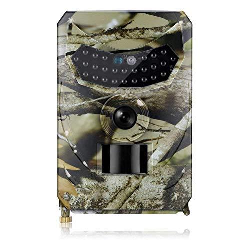 JIANPING Wildkamera 1080P 12MP Trail Game Camera Action Nachtsichtgerät 15m IP65 Wasserdicht Für Die Jagd Und Überwachung Von Wildtieren (Immobilien Stehen)