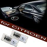 1 paire LED porte de voiture déclairage Logo projection de lumière/Projecteur Bienvenue/Bas de Porte Logo Shadow/Car Door Logo Projector Light (Citroen)