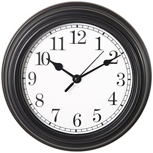 Promobo - Horloge Pendule Mural Design Quartz Vintage Hall De Gare Noir