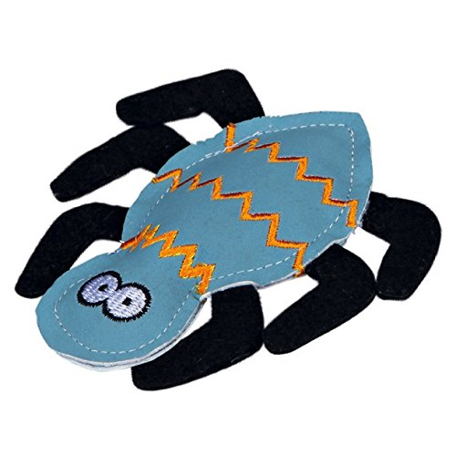 Trixie - Juguete forma araña hierba gatera 10 cm/Azul/Negro