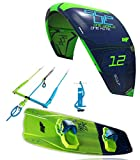 CrazyFly Kiteboarding 2018 Sculp 9m Kite & Raptor 137 x 41 Board Package, Green, 9