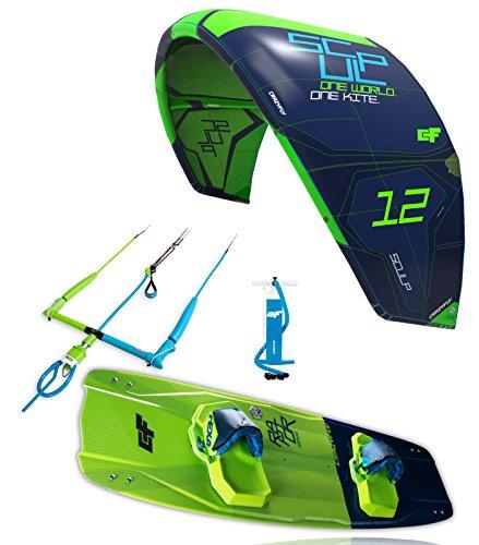 crazyfly Le Kitesurf 2018Sculp 10m Kite & Raptor 135x 43Board Package, Green, 10
