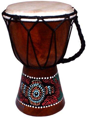 Bemalte Djembe Trommel, West Afrikanisches Bongo (20cm hoch) (Afrikanische 20 Trommel)