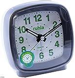 Wecker ohne Ticken schleichender Sekunde, LED-Licht, Snooze QW816, Farbe:grau