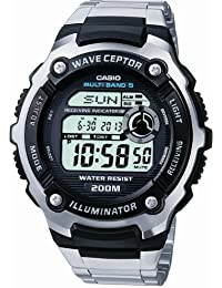 Casio Men's Radio Controlled Bracelet Digital Watch WV-200DU-1AVER