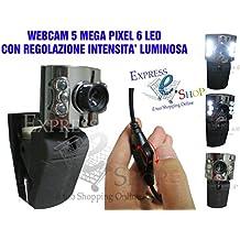 Express StayHear Webcam HD 5Megapixel 6LED Mikrofon USB Web Cam Camera Skype Omegle PC