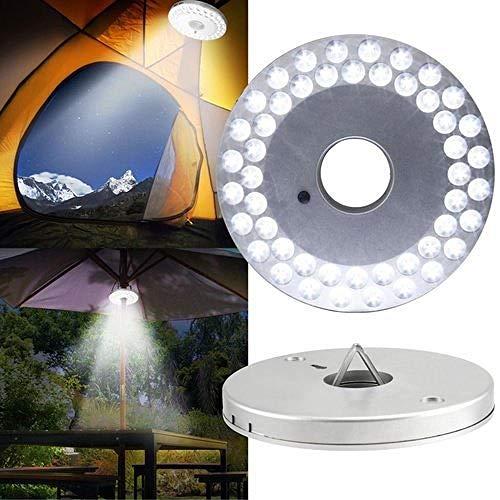 FSD-MJ Disc Light_Outdoor Adventure 48led Disc Light Regenschirm Licht Camping Licht Zelt Licht Notlicht dritte Licht Beleuchtung weiß