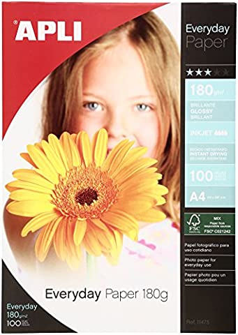 Apli Everyday Paper Glossy 180gsm A4 Ref 11475 [100 Sheets]