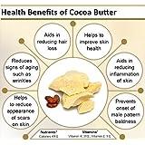 Green Junction Finest Raw Ecuadorian Cocoa Butter (Chocolate Aroma) 100g Jar