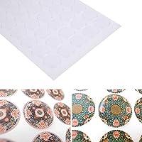 Gugutogo 300Stück 2,5cm Transparent Dome Kreis Epoxy Aufkleber Wasserabweisend Kristall Epoxy Aufkleber für Flasche Gap Crafts (Farbe: Transparent)