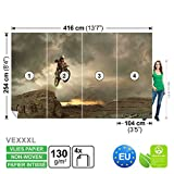 FORWALL Vlies Fototapete Tapete Vliestapete Dekoshop Motocross Jungen Teenager ADW1254VEXXXL (416cm x 254cm) Photo Wallpaper Mural
