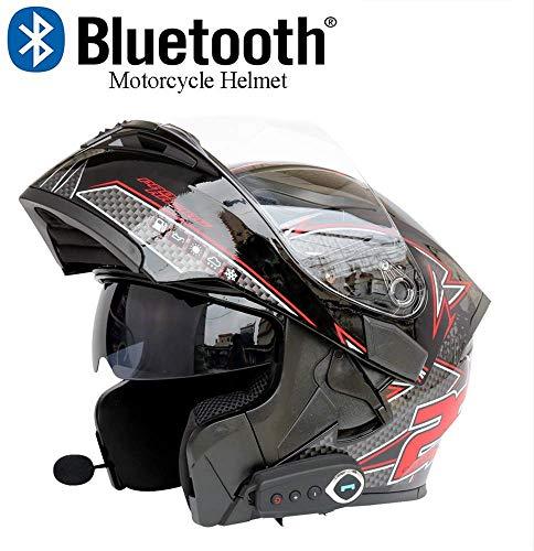 CPSTM Motorrad Bluetooth Helm Motorrad Outdoor Helm D.o.t Sicherheitsstandard Automatische Antwort Bluetooth Musik Vorne Anti-Fog Doppelspiegel Mit Fm