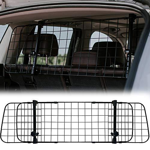 NEEZ Kofferraum Schutzgitter für Hund - Trenngitter für Auto Universell verstellbar - Transportgitter Kofferraumschutz für Hunde für sichere Transportwege - Hundegitter für Auto universal