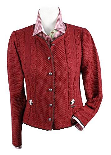 Trachten-Strickjacke Damen - Trachtenjacke/Dirndljacke/ Rot- Top-Qualität