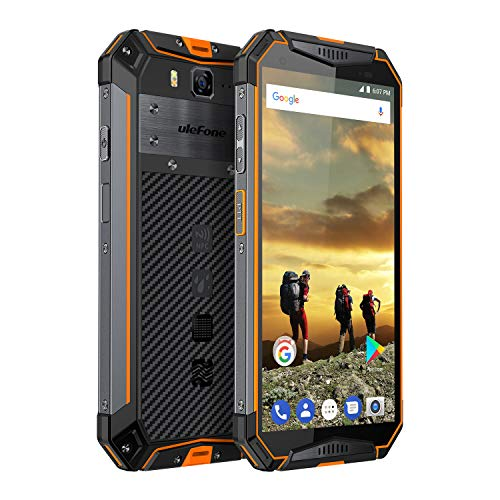 Ulefone Armor 3 Outdoor Handy Wasserdicht, 10300 mAh Akku 4GB +64GB Helio P23 Prozessor IP69K Robustes Smartphone, 5.7 zoll Display 21MP + 16MP Kamera, Global LTE, PPT, NFC, Orange