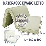Materasso divano letto 160x190 spessore 10 cm con seduta