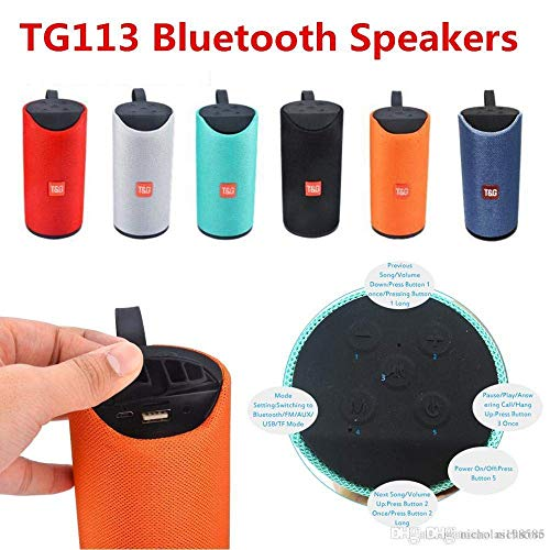 Elicraft TG113 Bluetooth Speaker Portable Wireless Speaker with Mic Super Bass Splashproof...