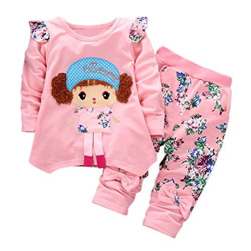 Baywell Kinder Baby Mädchen Kleidung Herbst Sets Kleinkind Mädchen Kleidung Nette Langarm T-Shirt Tops + Hosen Rock 2 Stücke Baby Anzug Outfits (Für Kinder 2 Winter-kleidung Stück)