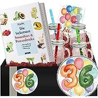 Geschenkidee 36. Jubiläum | Geschenkbox Smoothie + Gläser | 36 Geburtstag Opa