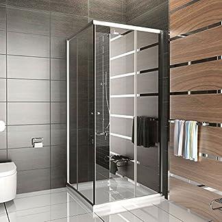 Cabina de ducha Cristal/Mampara con marco/cabina de ducha aprox. 90x 90x 190cm/Ducha/einscheibensicherheitsglas/altura de la Mampara aprox. 190cm/Ducha Sin cristal los arañazos