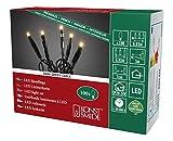Konstsmide 6354-820 Micro LED Lichterkette/für Innen (IP20) / VDE geprüft / 24V Innentrafo / 100 bernsteinfarbene Dioden/schwarzes Kabel