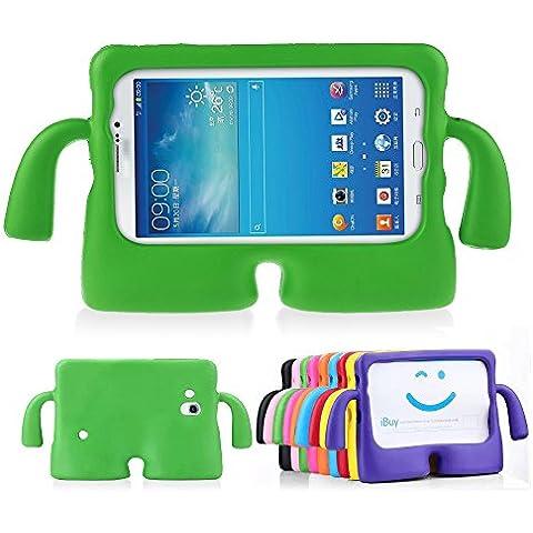 lioeo Funda para niños resistente a golpes Funda protectora de goma para Samsung Galaxy Tab 3/3Lite 7.0con Asa para tablet Samsung Galaxy Tab 3/3Lite de