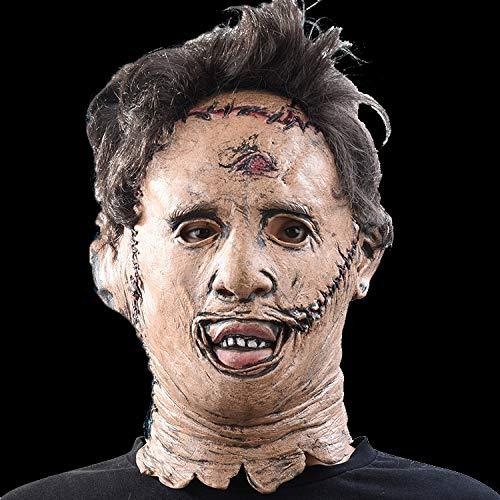 ZHANGWENLI Masken Beängstigend Cosplay Halloween Kostüm Requisiten Hohe Qualität Spielzeug Party Latex Maske (Beängstigend Leatherface Kostüm)